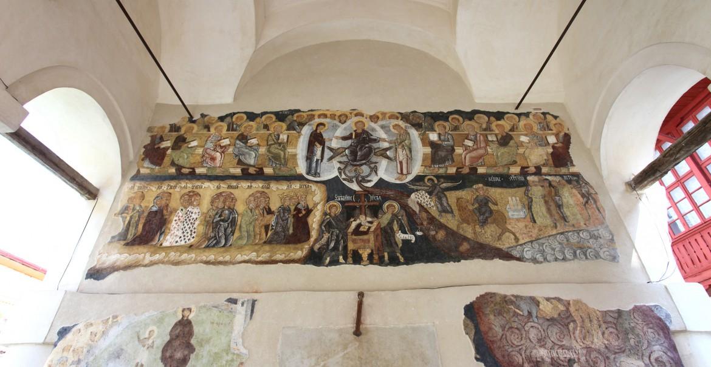 Frescă din pridvorul bisericii